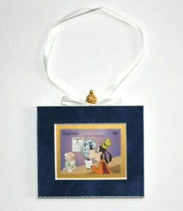 Disney-Goofy-Hand-Crafted-Velvet-Framed-Guyana-Stamp-Christmas-Tree-Ornament