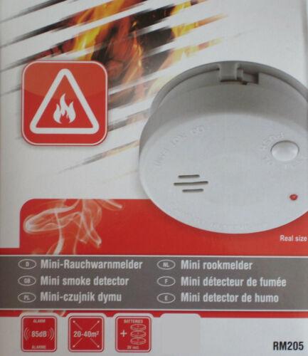 2 x elro mini Rauchmelder rm205 Lithium-Batterie EN 14604 Feuer-Melder 2er Set