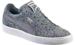 PUMA Suede Classic Casual Emboss Womens Sneakers SZ 8.5 Steel Gray ... 0117215171