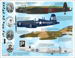 B-29, Lancaster, F4U, F-4: Stars in the Sky #3 (1/72 decals, Iliad 72017)
