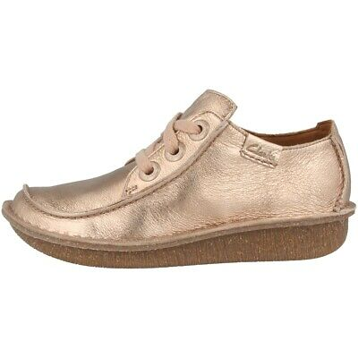 Clarks FUNNY DREAM SHOES Womens Loafers Leather Lace Up Shoes Rose 26141434 | eBay