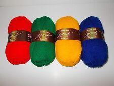 Stylecraft Special DK yarn pack, 4x100g, BASICS, matador, green, sunshine, royal