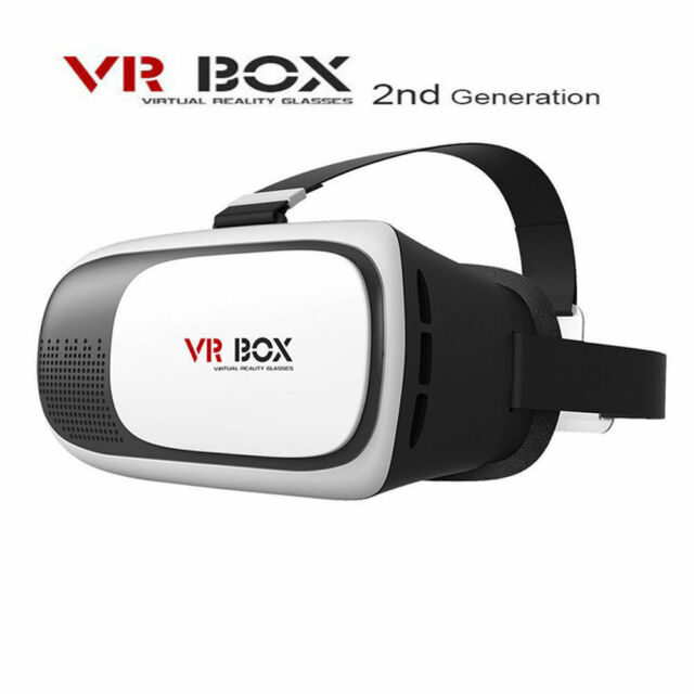 2nd Virtual Reality VR BOX 3D Glasses Google Cardboard for Smart phone iphone