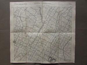 Carta-Italia-IGM-Massa-Lombarda-Lugo-S-Agata-Santerno-Geografia-Cartiglio-1911