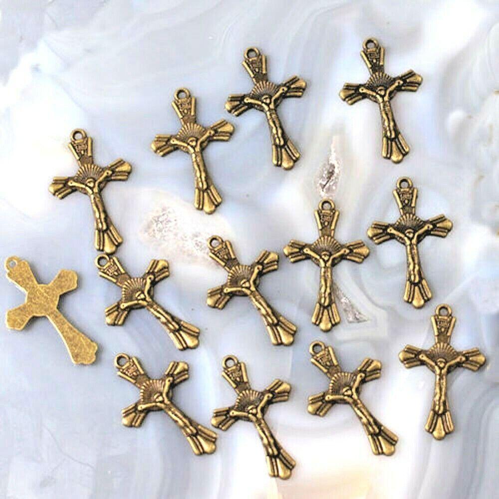 26x12mm Cross Charm Pendant Silver Copper 14pcs FREE SHIPPING Anti-Brass Gold
