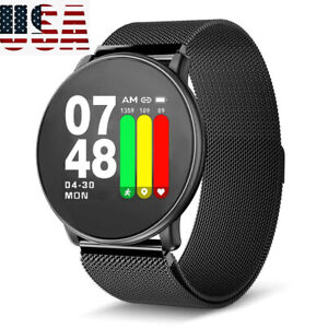 fc552ce7d Image is loading Bluetooth-Smart-Watch-stainless-steel-Smartwatch-Phone-for-