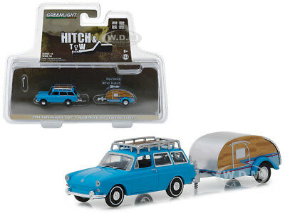GreenLight 1//64 1961 Volkswagen Type 3 Squareback with Teardrop Trailer 32140-A