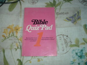 1954 BIBLE QUIZ PAD #1 Mabel H Nance MOODY PRESS Questions