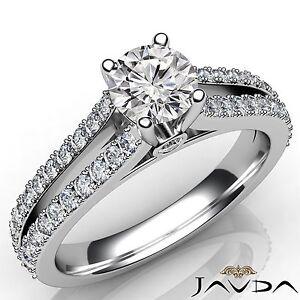 Image Is Loading G Set Round Diamond Engagement Split Shank Ring