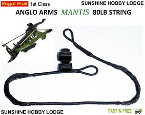 Crossbow-String-80lb-Pistol-Xbow-String-amp-End-Caps-Fits-Anglo-Arms-Mantis-Bow