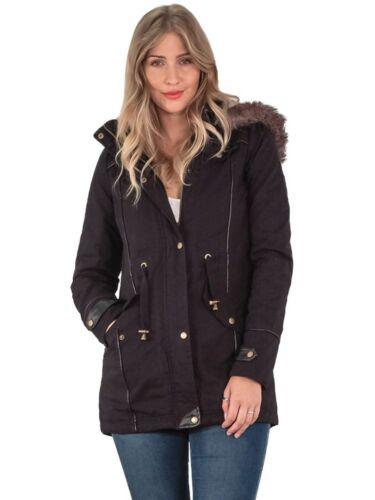 para piel bajos de mujer Parka para mujer larga Manga Abrigo bolsillos con de Dos invierno capucha Chaqueta RwqHR