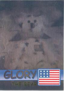 TY Beanie Babies BBOC Card - Series 2 Rare Bear (GREEN) - GLORY (#/6666)