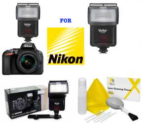 HD-XENON-SPEEDLITE-WIRELESS-ZOOM-SWIVEL-FLASH-FOR-NIKON-D3400-D5600-DSLR