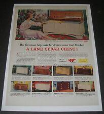 Print Ad 1953 FURNITURE Lane Cedar Hope Chest Christmas make her dream come true