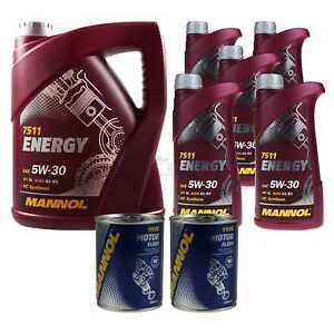 10l-Olio-Motore-Mannol-Energy-5w-30-2x-Motore-Mannol-Flush-Additivo