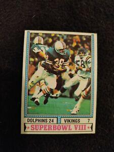 1974 Topps Super Bowl VIII football card #463 Miami Dolphins VG+