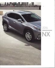 2016 Lexus NX - NX 200t NX 200t F SPORT & NX 300h Models 45 Page Brochure Look!