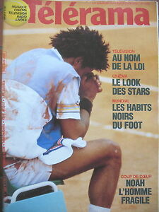 1899-TENNIS-YANNICK-NOAH-LAMBERT-WILSON-LE-FOOT-DANS-QUEL-BUT-TELERAMA-1986