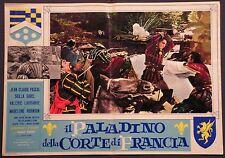 Fotobusta IL PALADINO DELLA CORTE DI FRANCIA '63 SCILLA GABEL JEAN-CLAUDE PASCAL