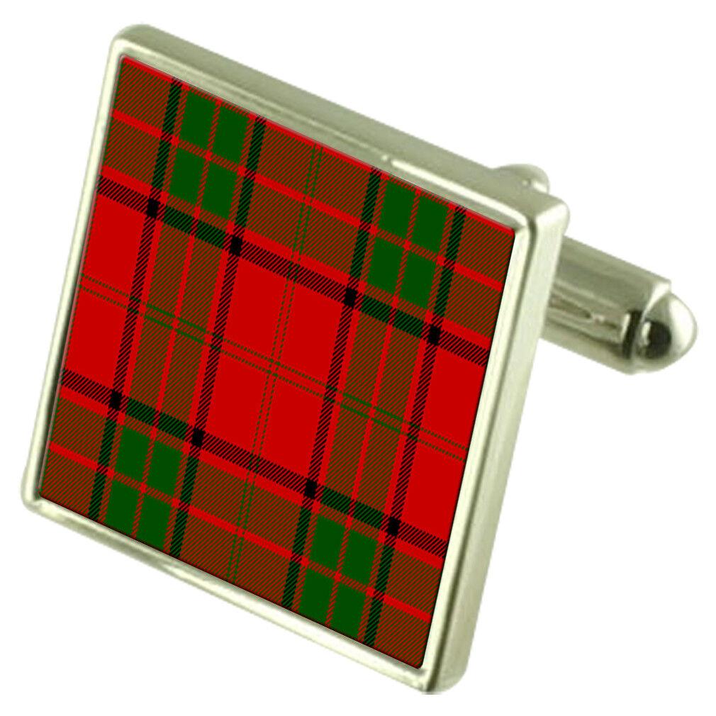 Tartan Clan Maxwell Maxwell Maxwell Gemelli Camicia in Incisione Personalizzata Custodia 10a07e