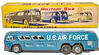 Spielzeug Sehr Selten Japanisch Blech Reibung U.s.luftwaffe Litho Bus W/ Original Box 2019 Offiziell Blechspielzeug