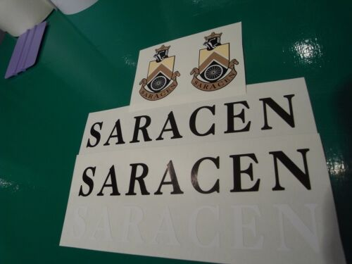 Mint set of four decals from new artwork None better! SARACEN decals