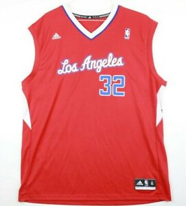 size 40 e44be 78432 Details about Adidas Los Angeles Clippers Blake Griffin #32 NBA Jersey Size  XL Red