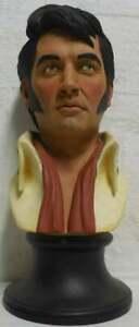 Armand-Lamontagne-Ultra-Rare-Wood-Like-Casting-Sculpture-of-ELVIS-PRESLEY-Signed