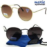 Bifocal Round Sunglasses Spring Hinges 60's Metal Lennon Moxie 1.502.50 W/case