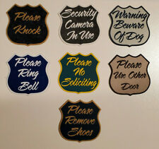 3 Sayings and Sizes Attractive Door Sign 11 Colors to choose from.