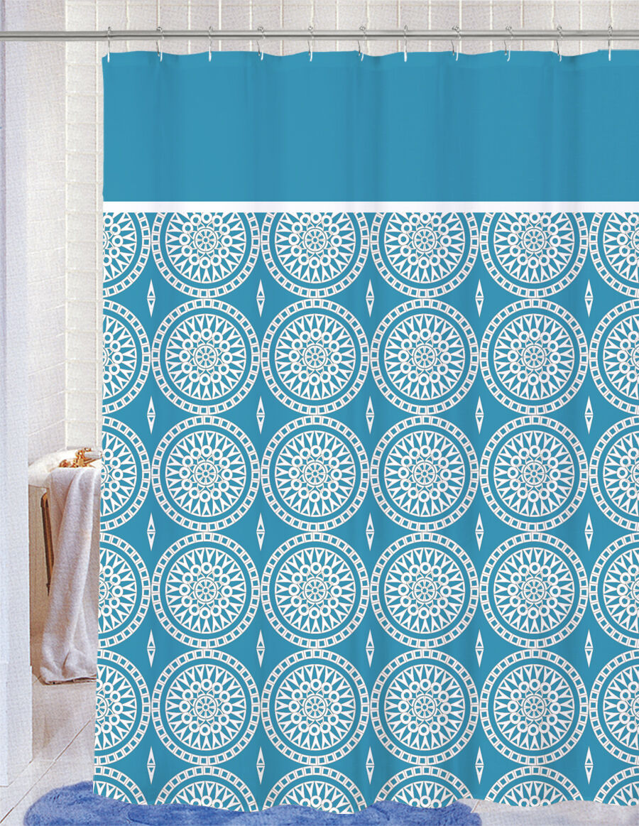 Soft Microfiber Fabric Printed Decorative Shower Curtain