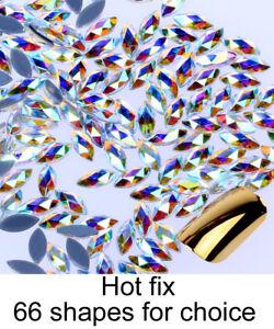 Spezielle-Form-Kristall-AB-Aufbuegeln-Hotfix-Strasssteine-Hotfix-Flatback-Stones