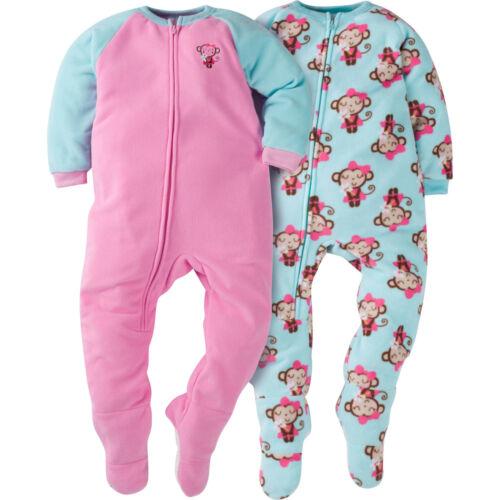 Girls/' Footed Blanket Sleeper 2-pack Gerber Toddler Boys/'