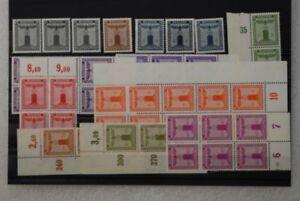 DR (1942) Dienstmarken Lot postfrisch aus 155-165