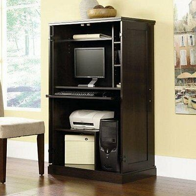 Computer Armoire Desk Hutch Workstation Den Cabinet Small Home Office Furniture Ebay