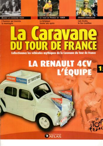 FASCICULE ATLAS LA CARAVANE DU TOUR DE FRANCE livré sans miniature au choix