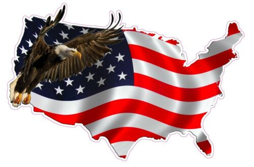 """American Eagle United States Version 2 Decal X Large 24/"""" Free Shipping"""