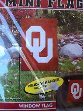 Oklahoma Sooners 15'' x 10.5'' Mini Window/Garden Flag