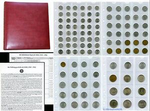 DDR-Kursmuenzen-Sammlung-1948-1990-110-verschiedene-im-Album