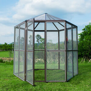 XXL Heavy Duty Outdoor Macaw Aviary Bird Parrot Reptile Cage ... on hexagon geodesic dome greenhouse, spherical greenhouse, rounded greenhouse, sierra greenhouse, rectangle greenhouse, circle greenhouse, domed greenhouse, teardrop greenhouse, geo dome greenhouse, triangular greenhouse, pyramid greenhouse, circular greenhouse, pipe greenhouse, wooden sheds with greenhouse, tubular greenhouse, half round greenhouse, tiny greenhouse, decorative terrarium greenhouse,