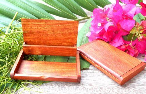 Vintage wooden box business name card holder thai handmade storage box case gift