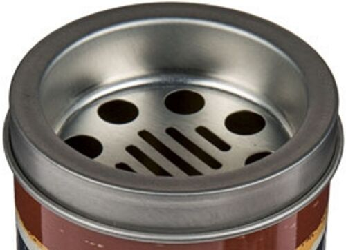 2x Metall-Aschenbecher im coolen Retro Style Ø ca 7,5 cm 4 ansprechende Designs
