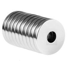 Lot 25 50 100 34 X 18 Hole 14 Neodymium Rare Earth Ringdonut Magnets N48