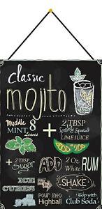 Mojito-Recipe-Cocktail-BAR-Sign-with-Cord-Metal-Tin-7-7-8x11-13-16in-FA0214-K