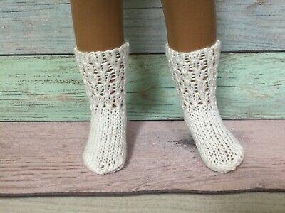 #2 short SASHA DOLL hand knitted white socks FREE US SHIPPING