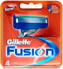 Gillette Fusion 4 Blades 100 Genuine UK SELLER Royal Mail 1st Class
