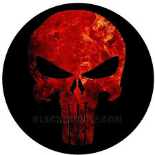 Blood Red PUNISHER Skull Logo Lights for vehicle doors LED  US  Army Spec Ops SF
