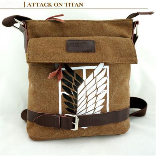 Attack on Titan Shoulder Bag School Bag Satchel Sling Messenger Backpack Outfit