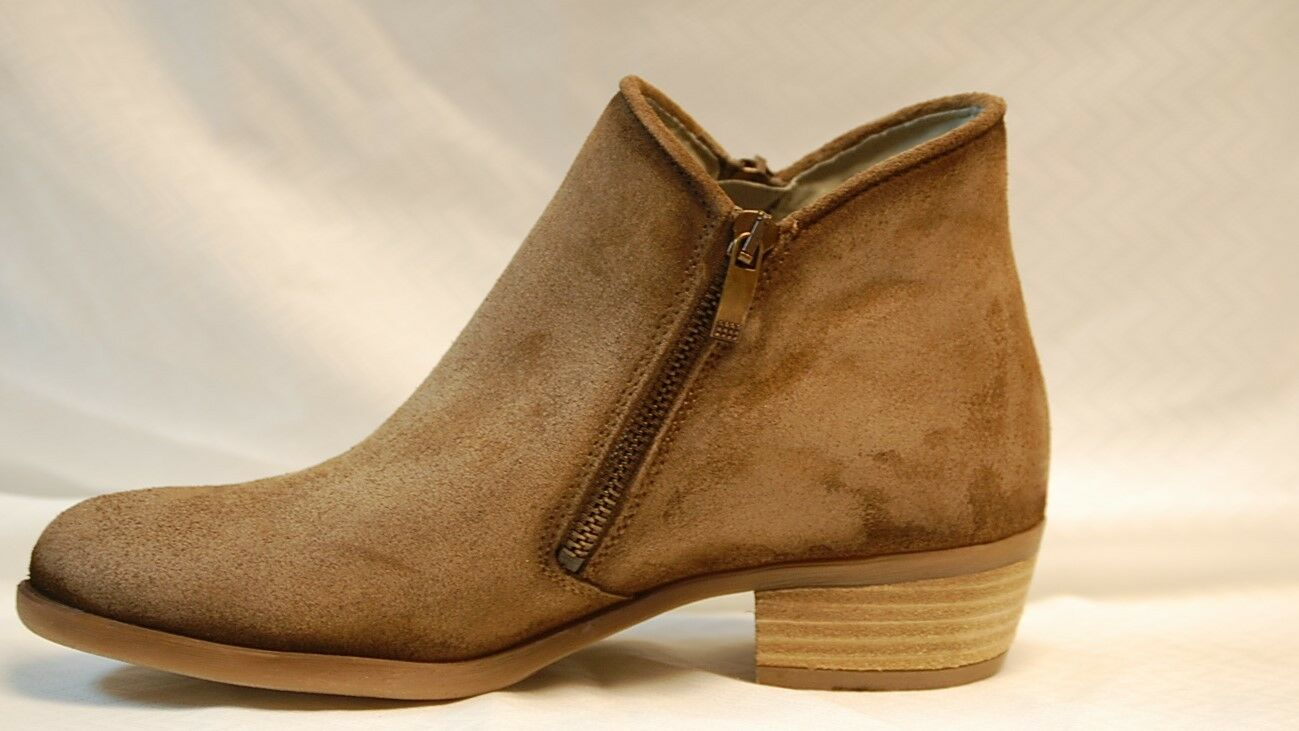 Eric Roughout Michael Freya Damens's Taupe Roughout Eric suede bootie with zide zip 84c32a