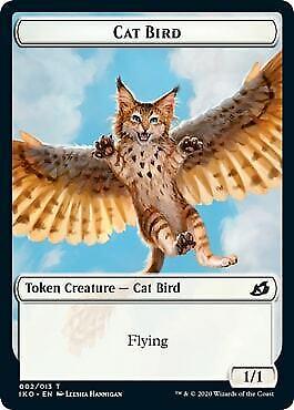002 Token Ikoria: Lair of Behemoths Mtg x4 4x IKO Magic Cat Bird